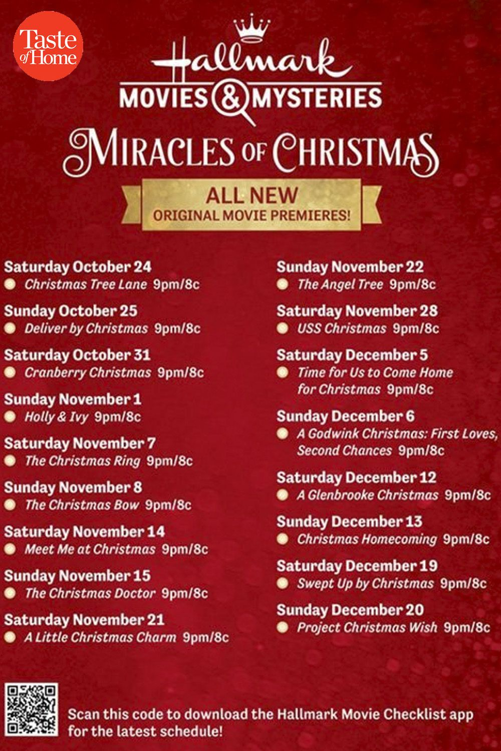 Hallmark Is Premiering 40 New Christmas Movies This Year Here S When To Watch In 2020 Hallmark Christmas Movies Christmas Movies Easy Christmas Dinner