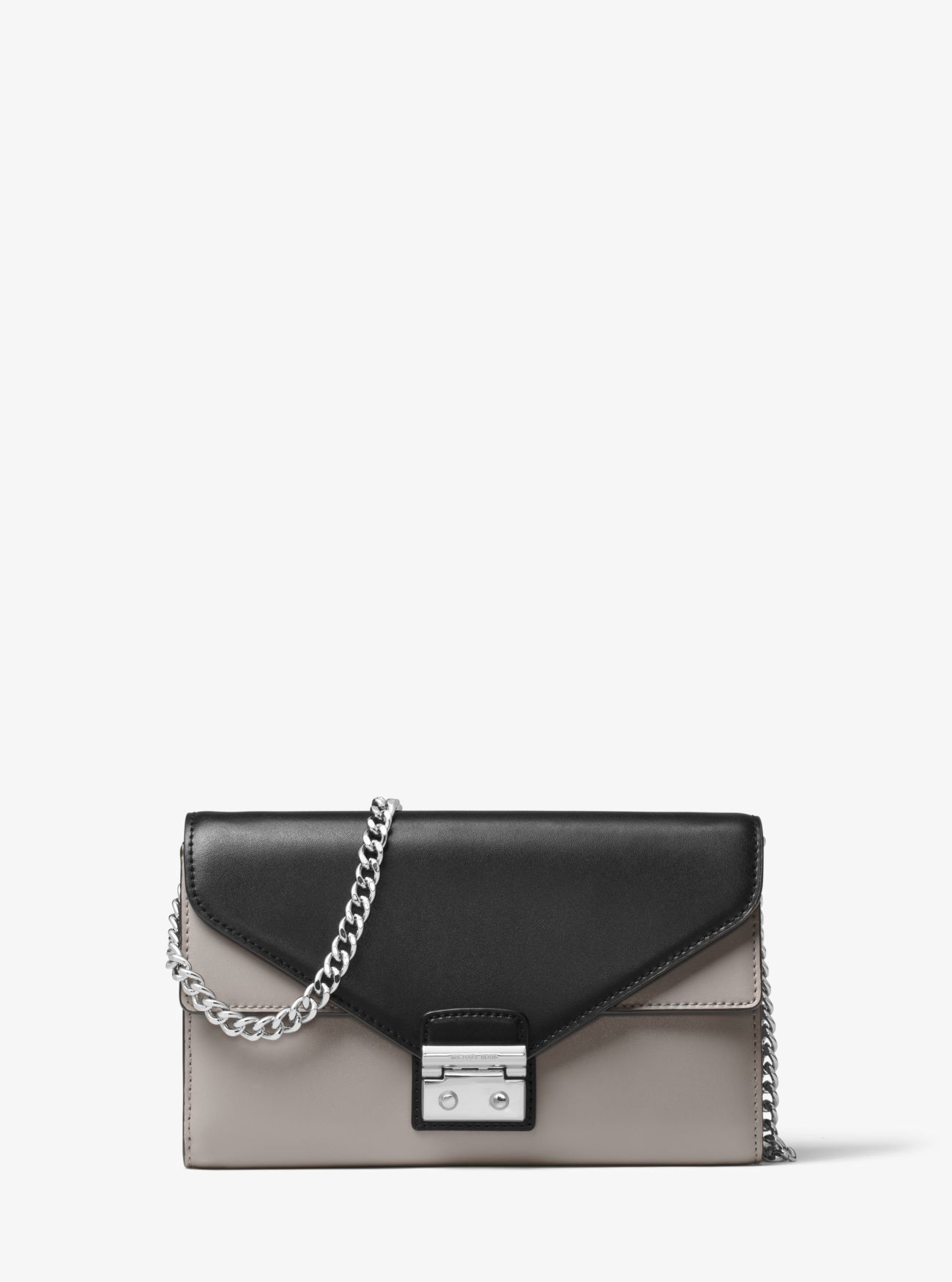 bb332fb03a92f MICHAEL KORS Sloan Color-Block Leather Chain Wallet.  michaelkors ...