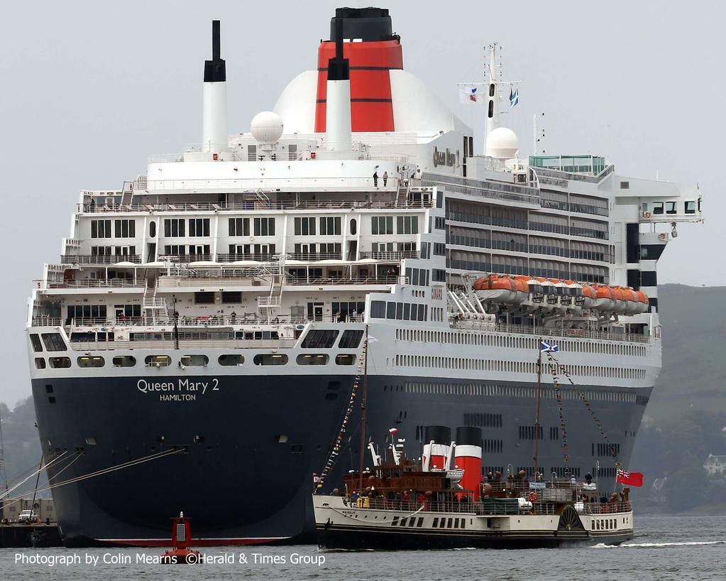 Colin Mearns On Queen Mary Steamers And Ocean - Cruise ships at greenock
