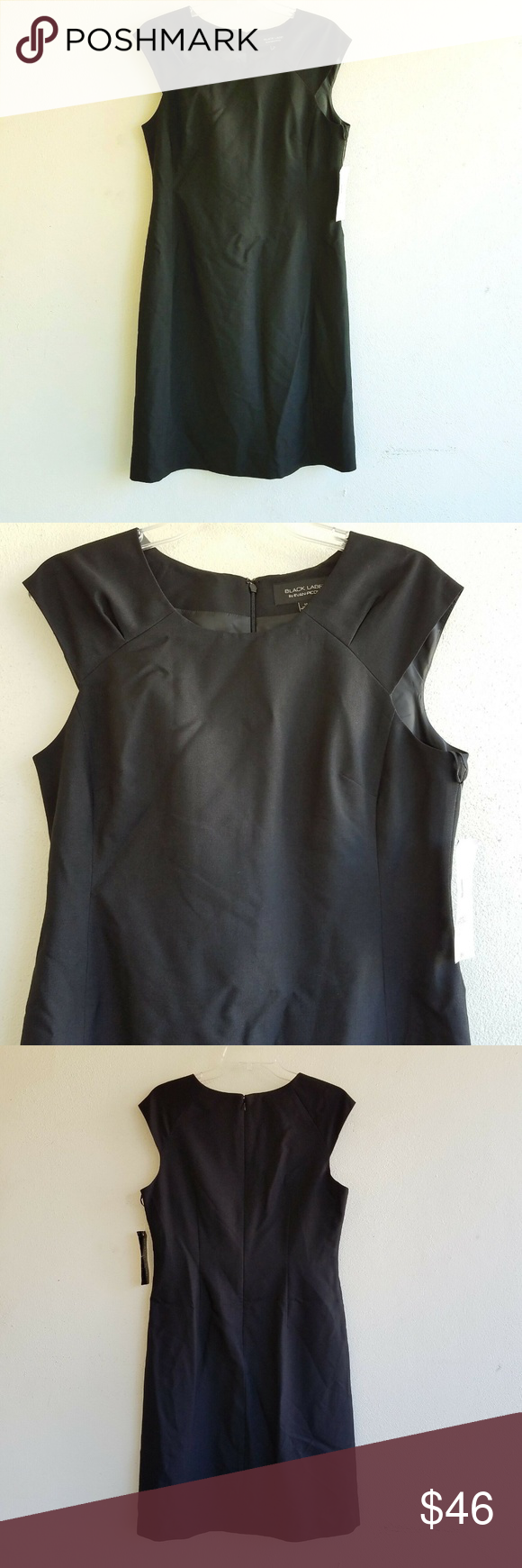 9f9503f556e Black Label by Evan Picone Dress Size 10 Black Label by Evan Picone Dress  Size 10 NWT Retails  60 Woman s Size 10 Black Sleeveless Dress Lined