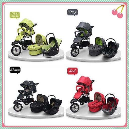 stroller car seat newborn pram 3 wheels baby stroller 3 in 1 pushchair pram stroller baby. Black Bedroom Furniture Sets. Home Design Ideas