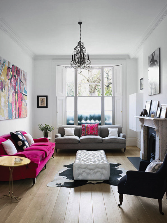 Inspiring Spaces: Living Room With Pop | In Jackies Shoes