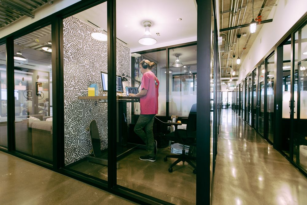 Gallery Of How Coworking And Coliving Are Redefining Space As A Service 2 Private Office Design Private Office Space Private Office