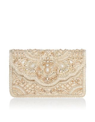Sequins Beads And Crystal Gems Give Our Penelope Envelope Clutch