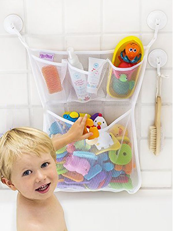 Fashion Baby Bath Bathtub Toy Mesh Net Storage Bag Organizer Holder ...