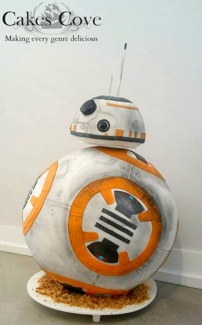 This Lifesize BB-8 Cake Is Almost Too Beautiful To Eat
