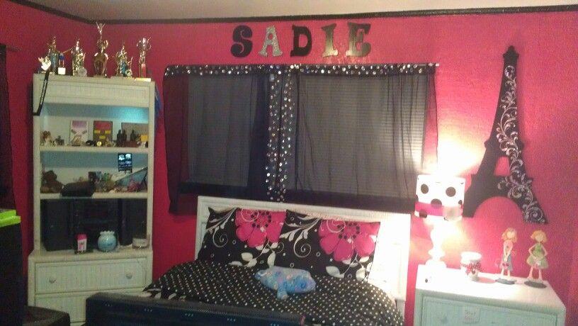 Teen Girls Paris Themed Bedroom Bedrooms Pinterest