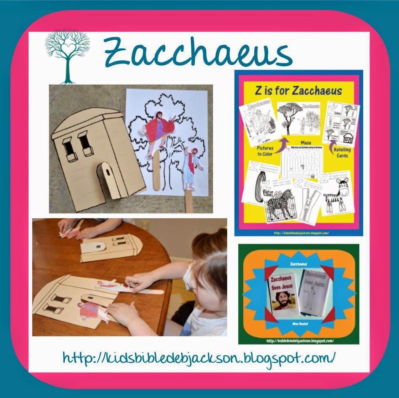 Bible Fun For Kids: Preschool Alphabet: Z is for Zacchaeus ...