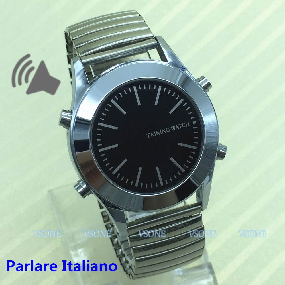 18.00$  Buy now - http://alih5m.shopchina.info/go.php?t=32793793386 - Italian Talking Watch for Blind People or Visually Impaired with Alarm Clock Quartz Watch Parlare Italiano  #bestbuy
