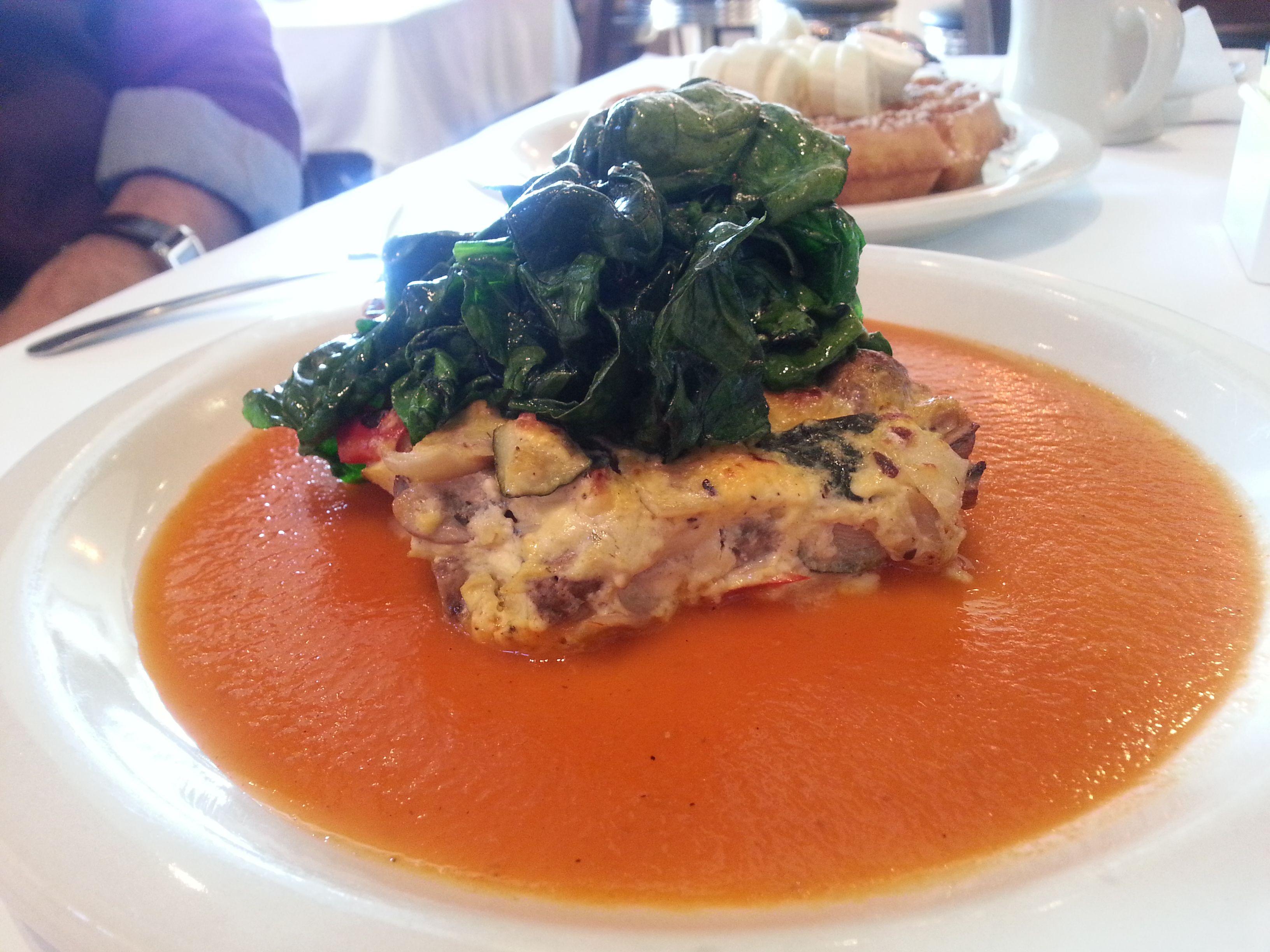 Veggie Frittata! #BreakfastHouse #Chicago