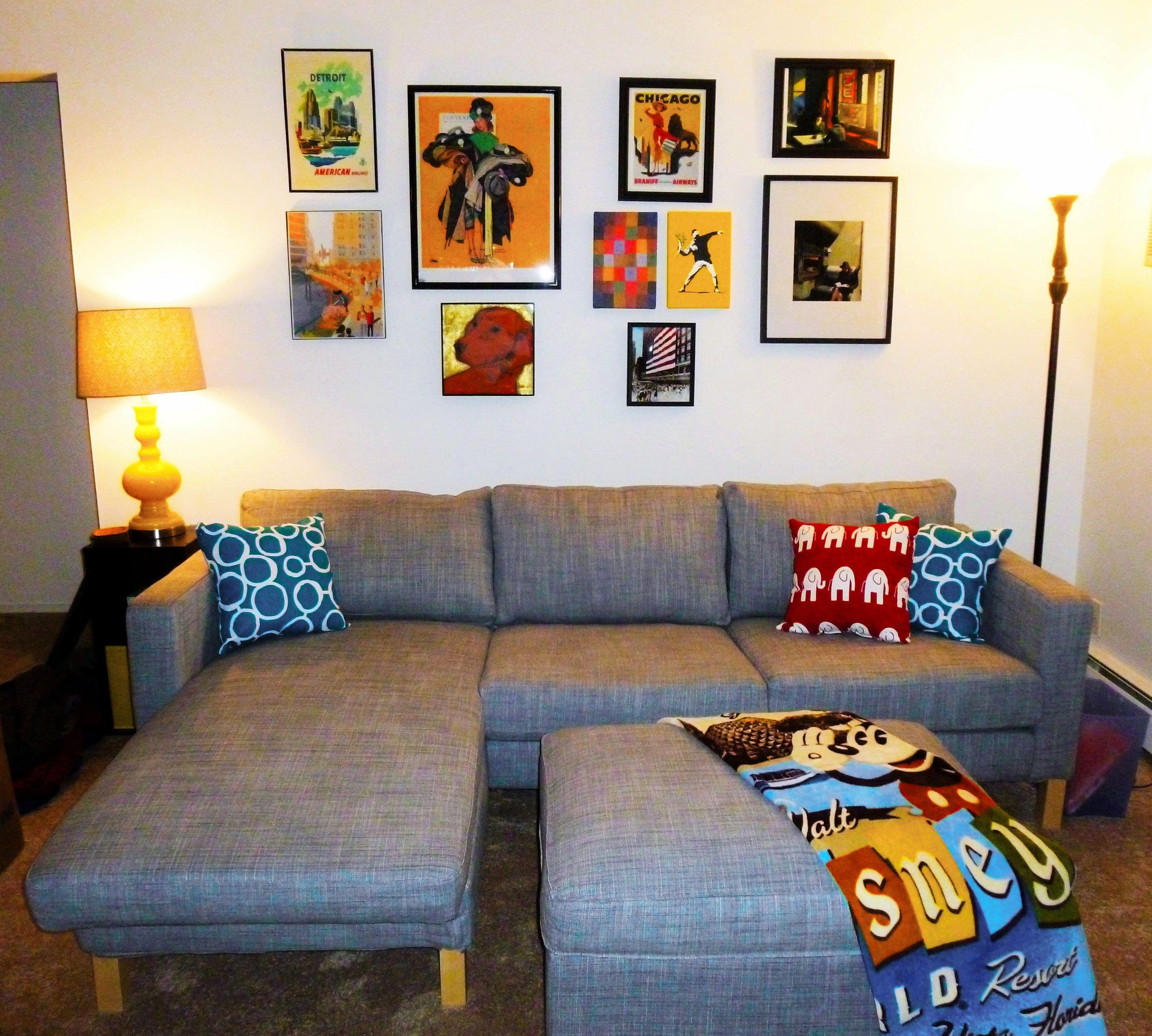 Wondrous Ikea Karlstad Loveseat W Chaise Ikea Kivik Footstool Forskolin Free Trial Chair Design Images Forskolin Free Trialorg