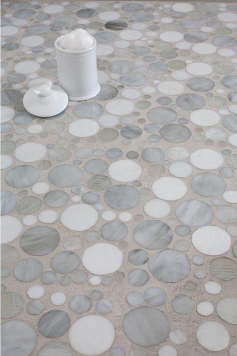 Earthtones Circular Mosaic Luxury Tile Glass Tile Design