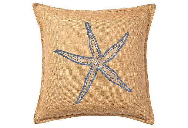 Seaside Treasures 20x20 Pillow Blue On Onekingslane Com