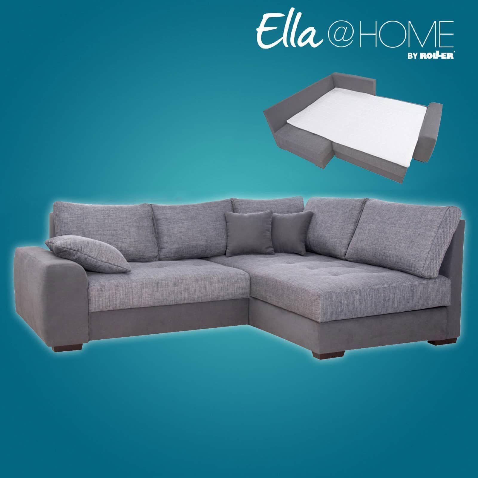Schau Mal Was Ich Bei Roller Gefunden Habe Ella Home Boxspringsofa Grau Schlaffunktion Recamiere Rechts Recamiere Sofa Couch Mobel