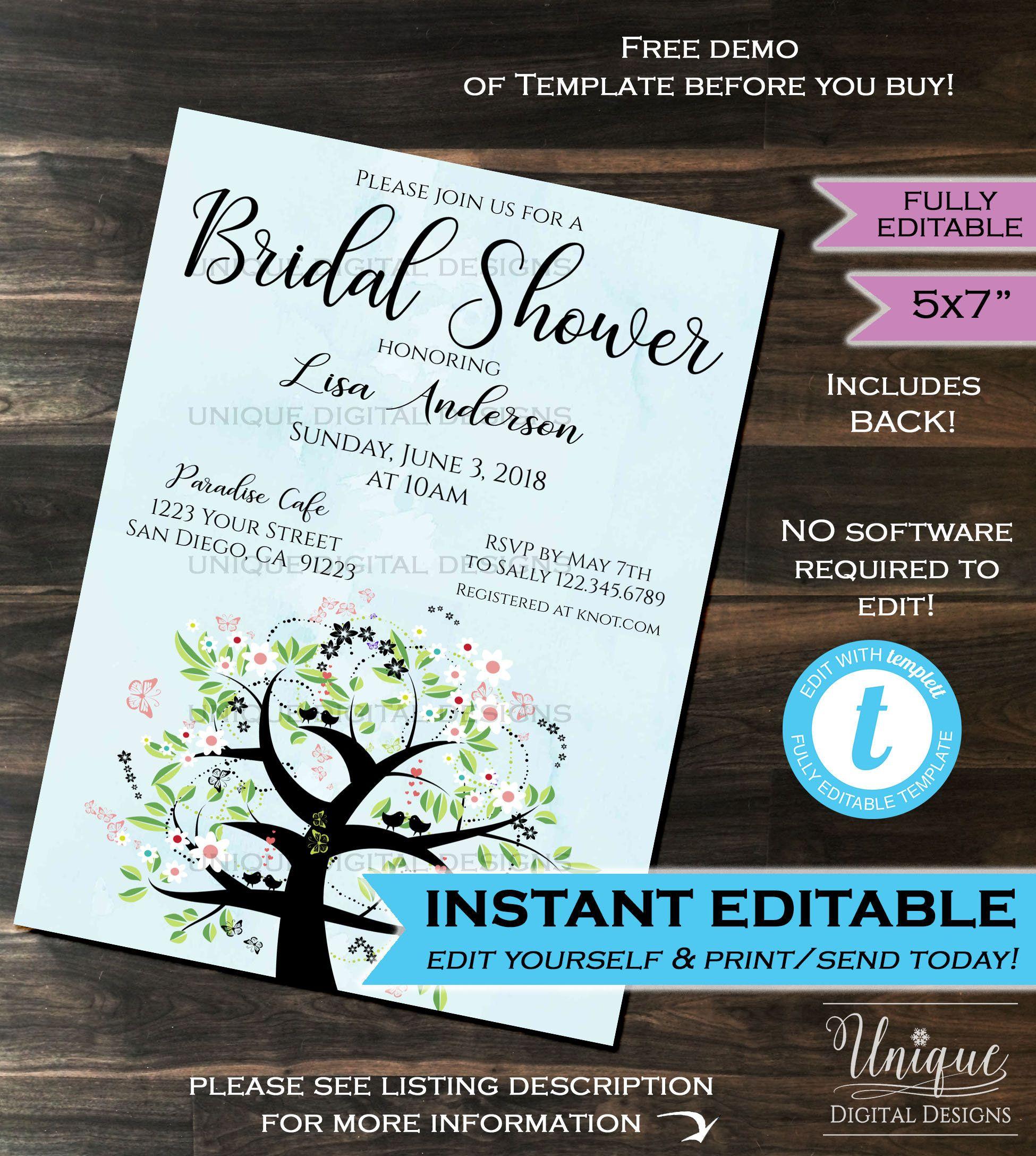 Bridal Shower Invitation Wedding Invite Bride to be Bachelorette