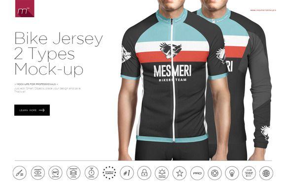 Download Bike Jersey Longsleeve Mock Up Bike Jersey Jersey Cycling Outfit