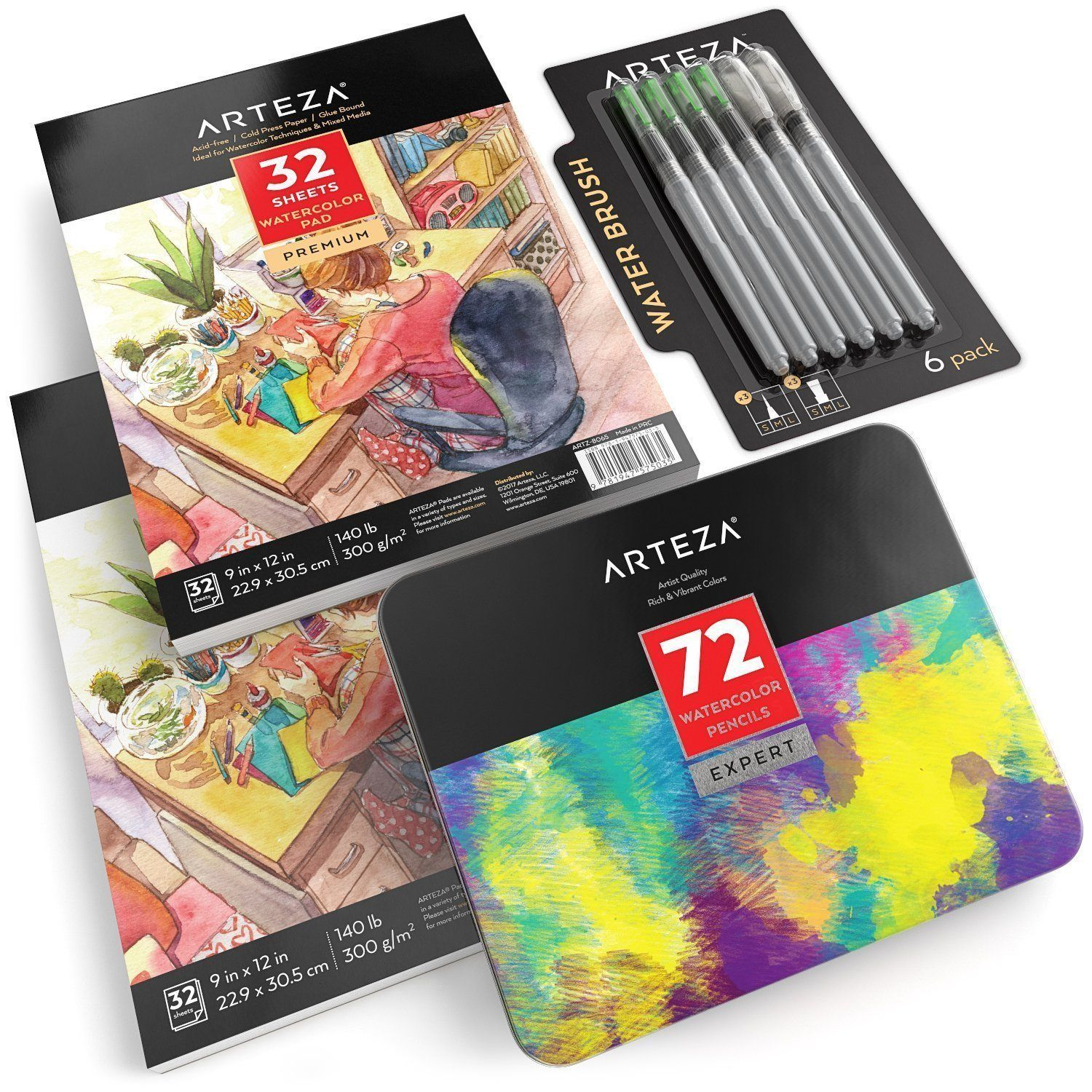 Watercolor Pencil Beginner Bundle Watercolor Pencils Water