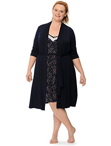 7995fa4ee077f Fashion Bug Plus Size Empire Waist Nursing Nightgown And Robe  www.fashionbug.us #plussize #Maternity 1X 2X 3X 4X 5X 6X