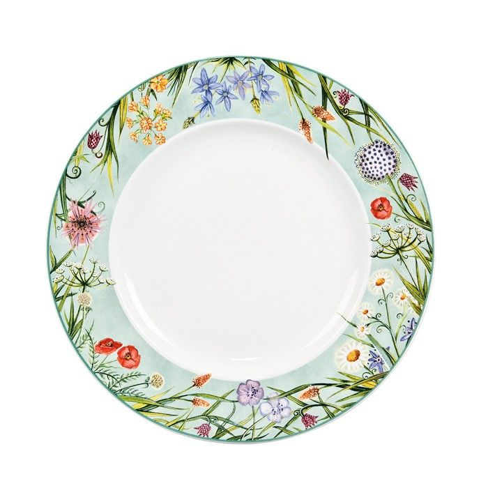 Decorative Dinner Plates Enchanting Coronation Meadows Dinner Plate With Decorative Edgebuy Dinner Design Ideas
