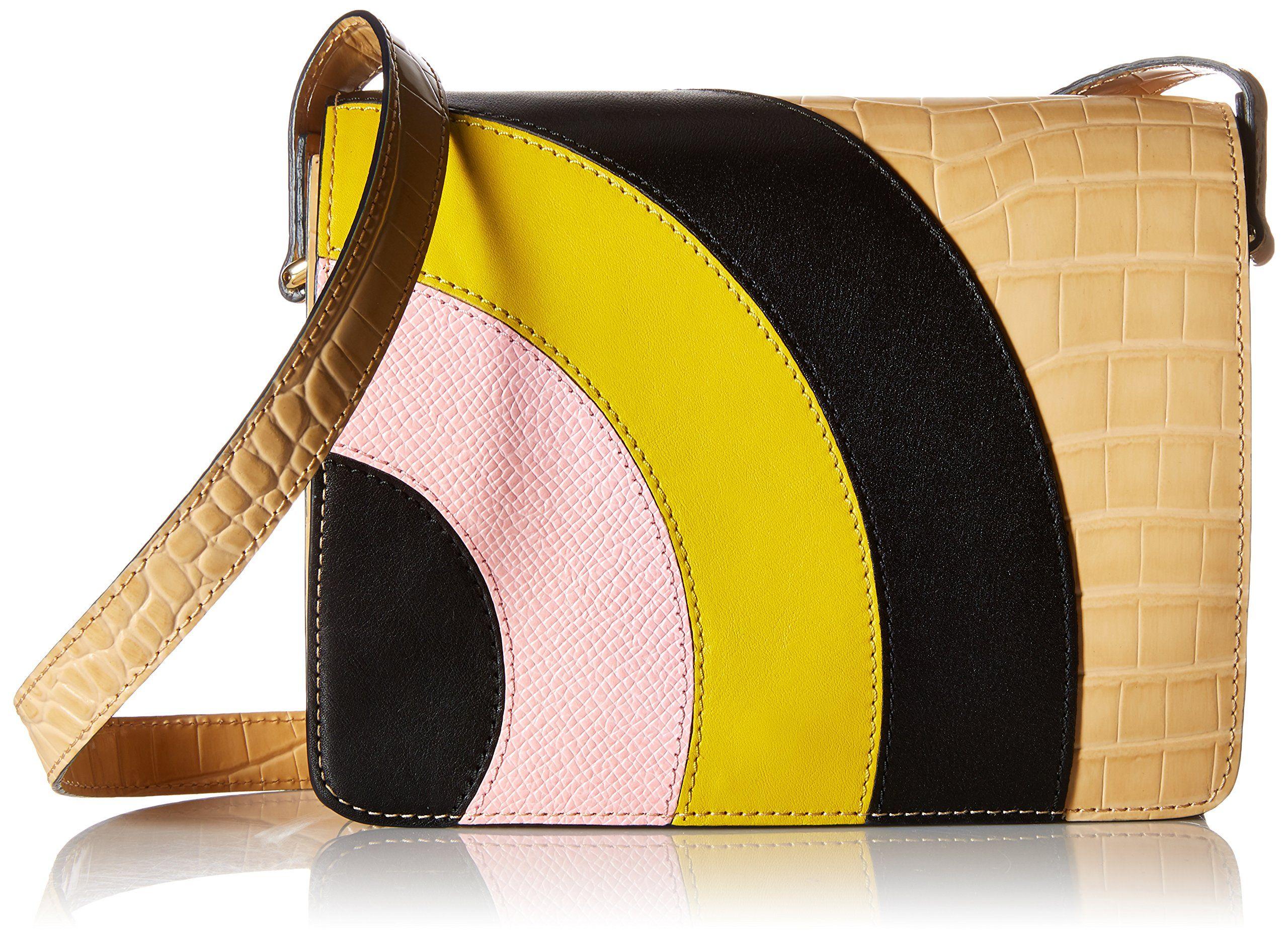 Orla KielyCroc Applique Leather Bonnie Shoulder Bag