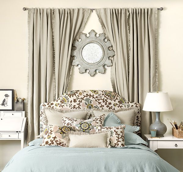 25 Best Ideas About Curtains Above Bed
