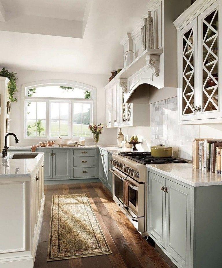 45 handsome french country kitchen decor ideas kitchen kitchen rh pinterest com