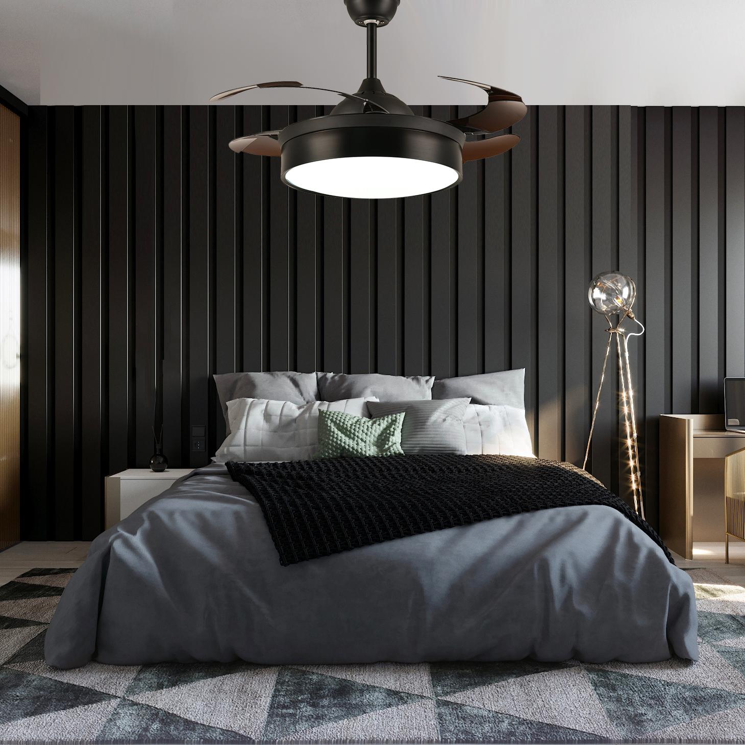 Modern Ceiling Fan With Lighting Bedroom Modern