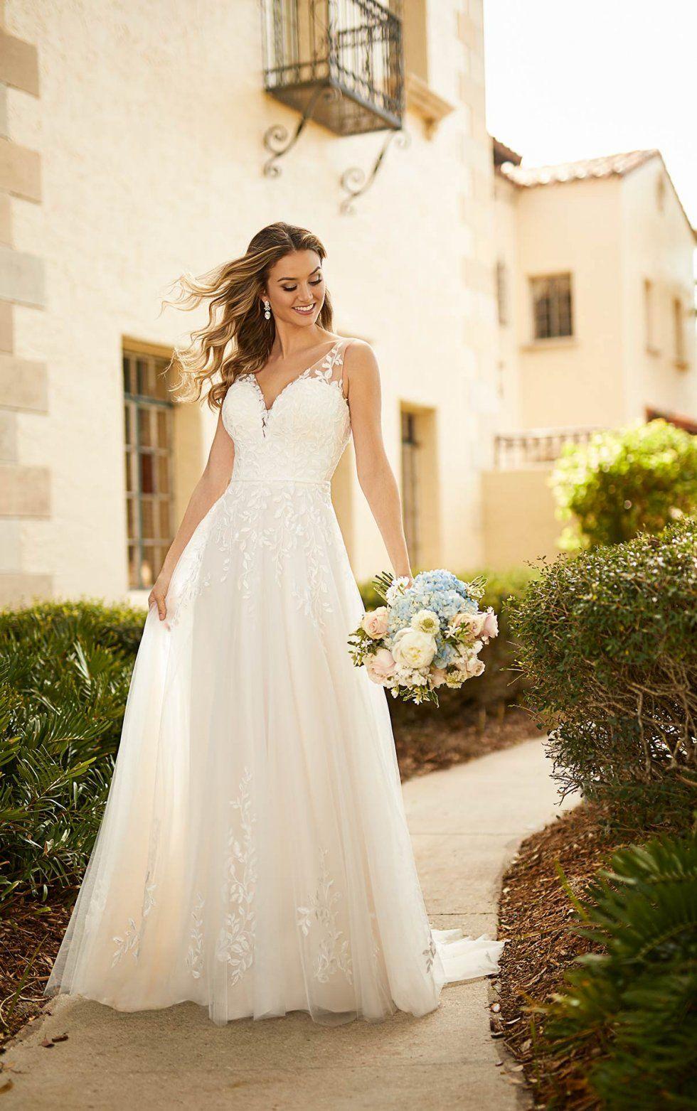 Illusion Strap Wedding Dress   Stella york bridal, York wedding ...