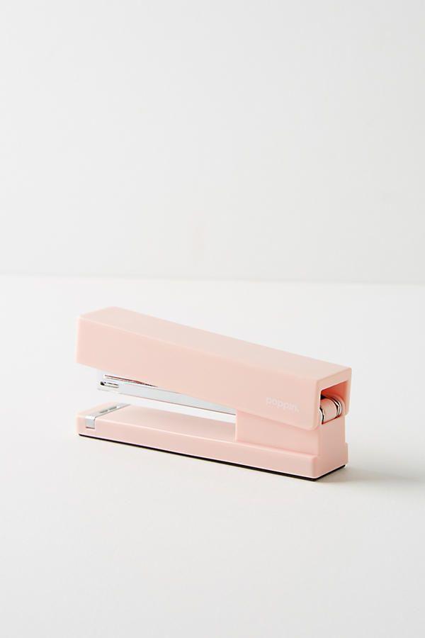 poppin blush stapler home office ideas pink desk stapler cool rh pinterest com