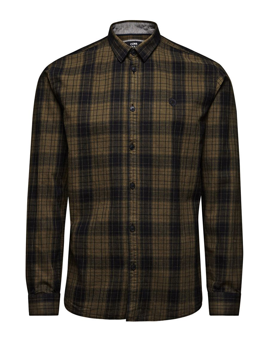 CHEQUERED LONG SLEEVED SHIRT, Forest Night