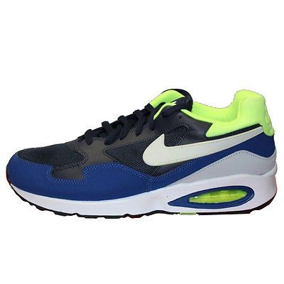 low priced 674e7 ad33f Nike Air Max St Mens 652976-400 Gym Blue Volt Athletic Running Shoes Size 13