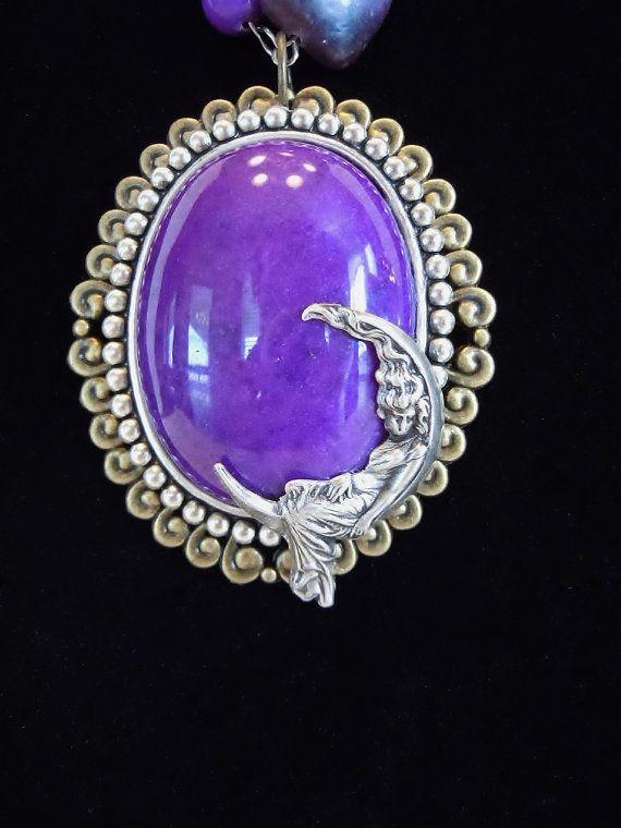 OOAK Purple Fantasy Beaded Necklace by Debbie Renee by DebbieRenee, $46.00