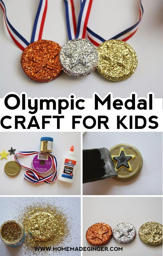 Easy Olympic Medal Craft For Kids - Homemade Ginger