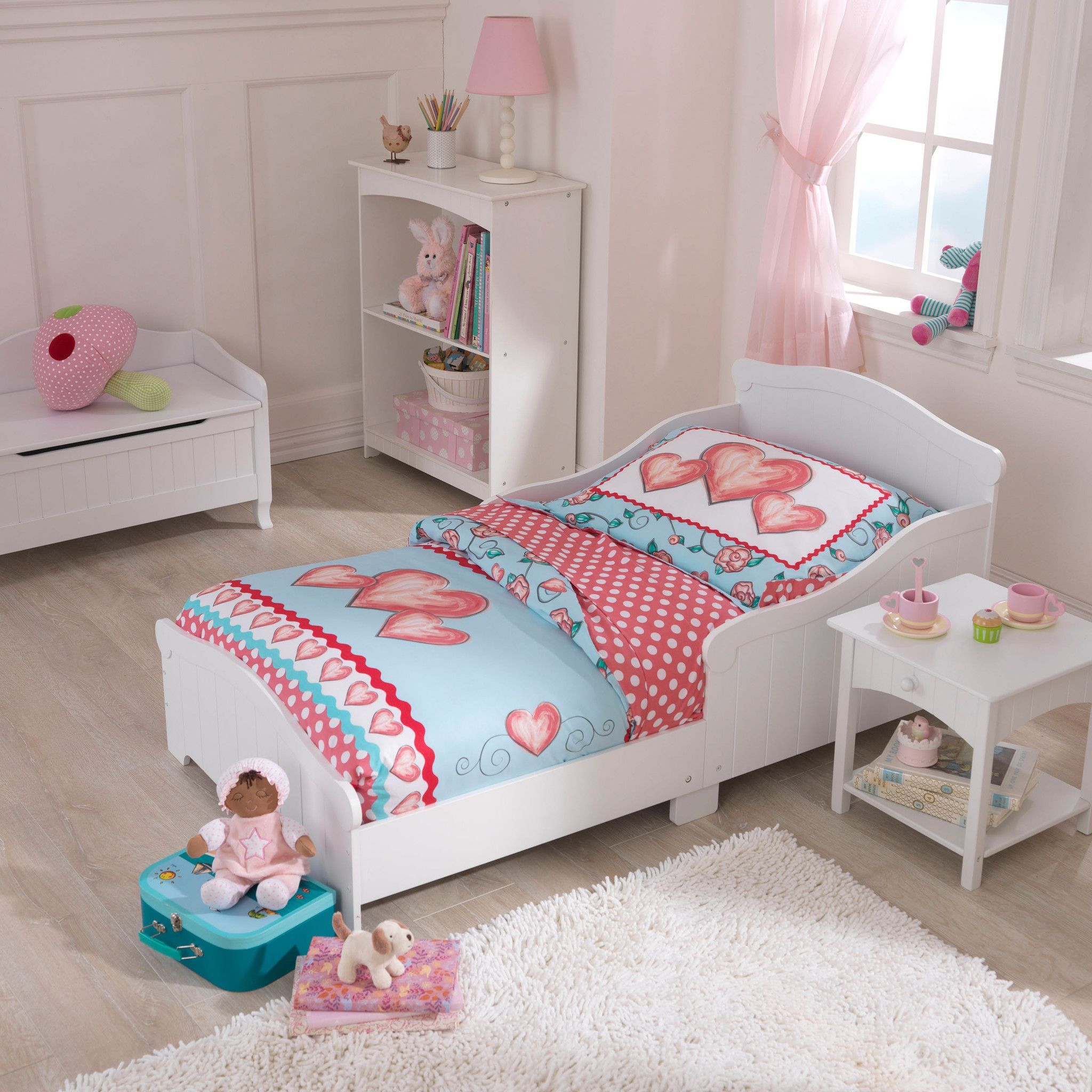 kid kraft nantucket toddler bed 86621 kidkraft products