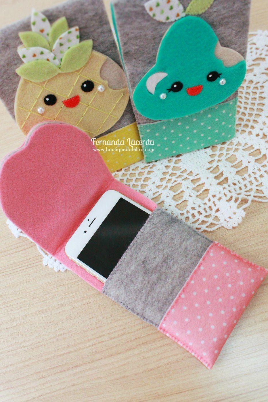 Moldes de fundas para celular en fieltro. | Felt crafts, Sewing projects,  Felt diy