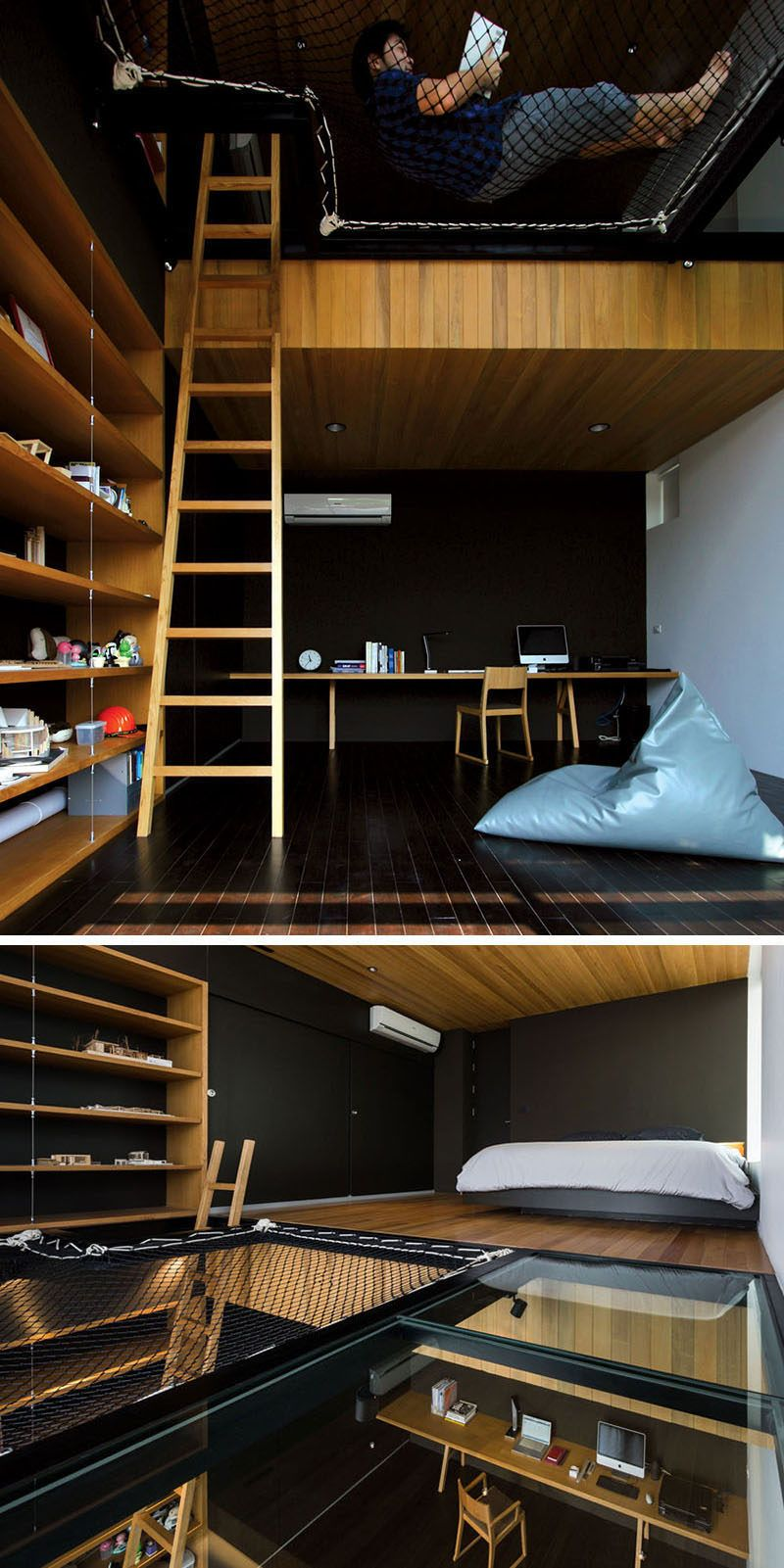 The loft space in this teenageru0027s bedroom