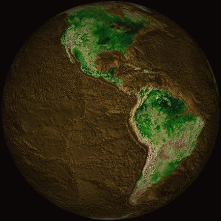 Topographic Map Of Earth Canvas Art Stocktrek Images X - Earth topographic map
