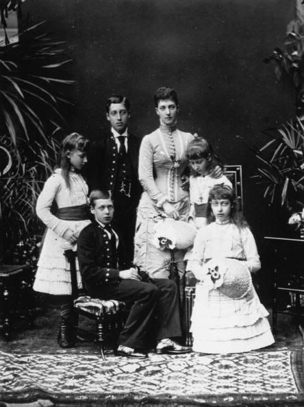 Alexandra with her children.