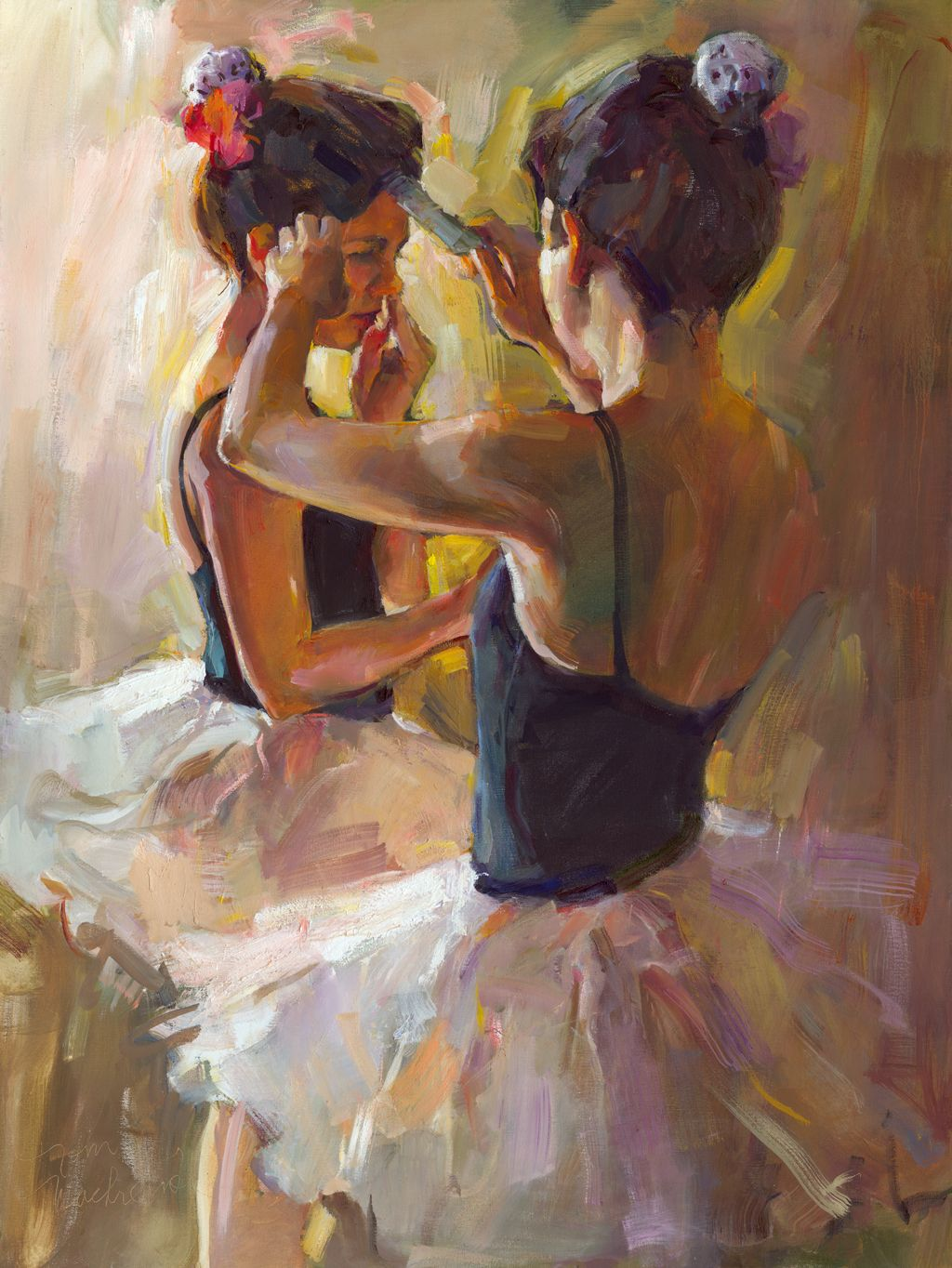 Getting Ready by Tom Nachreiner - Tom has lived in Wisconsin all his life - exhibits at Edgewood Orchard Galleries near Fish Creek, WI #ballet #art