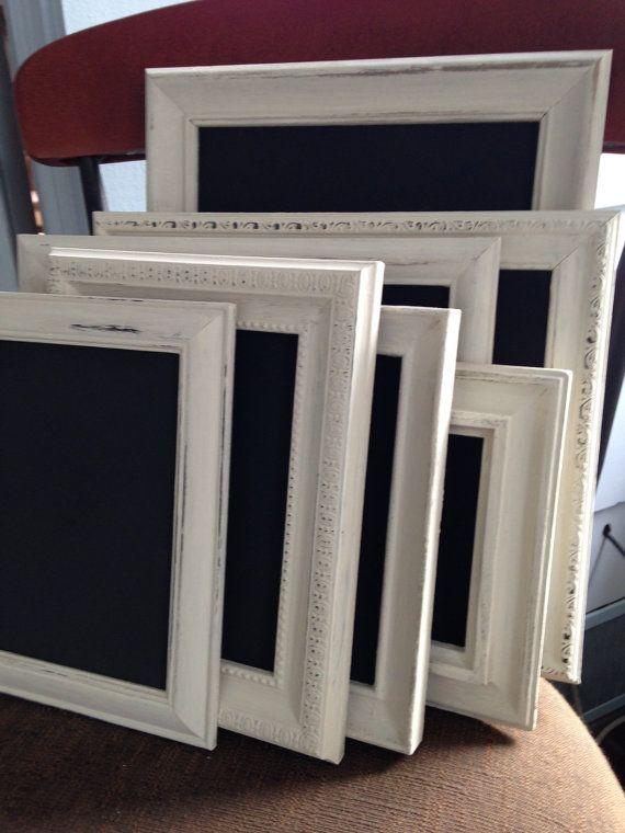 white framed chalkboards set of 8 wedding chalkboards frame table numbers four 8 x10 and - White Framed Chalkboard