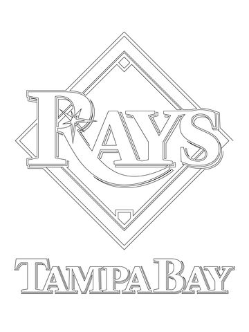 Tampa Bay Rays Logo Coloring page | Coloring Pages | Pinterest