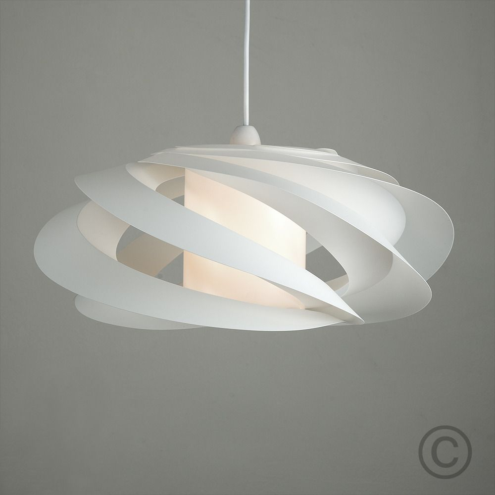 Our modern spiral pendant shade features a contemporary spiral ...