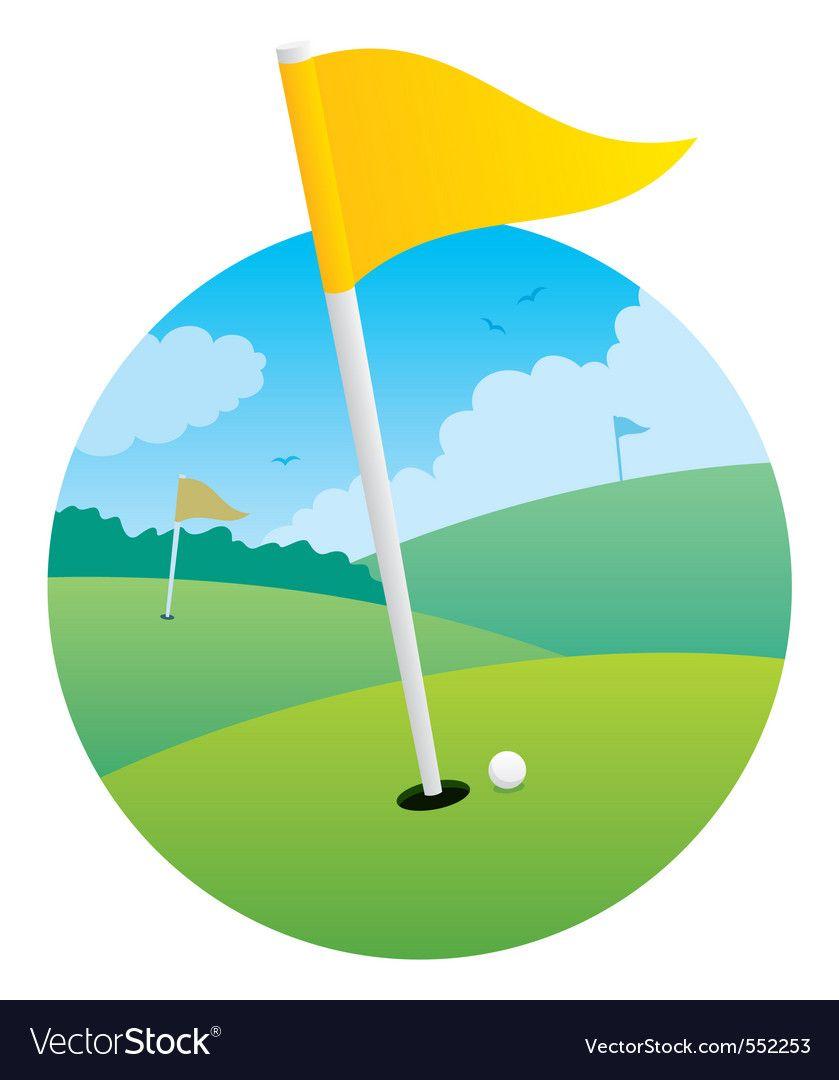 Golf Flag Royalty Free Vector Image Vectorstock Ad Royalty Flag Golf Free Ad Golf Flag Flag Template Vector Free
