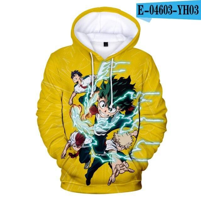 Jungen/Mädchen Hoodies Boku No/My Hero Academia Midoriya Izuku Deku Cosplay Persönlichkeit Männer/Kinder Sweatshirt Anime Oversized Hoodie – 3D 4 / L