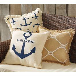 Mud Pie Mudpie Printed Nautical Pillows Nautical