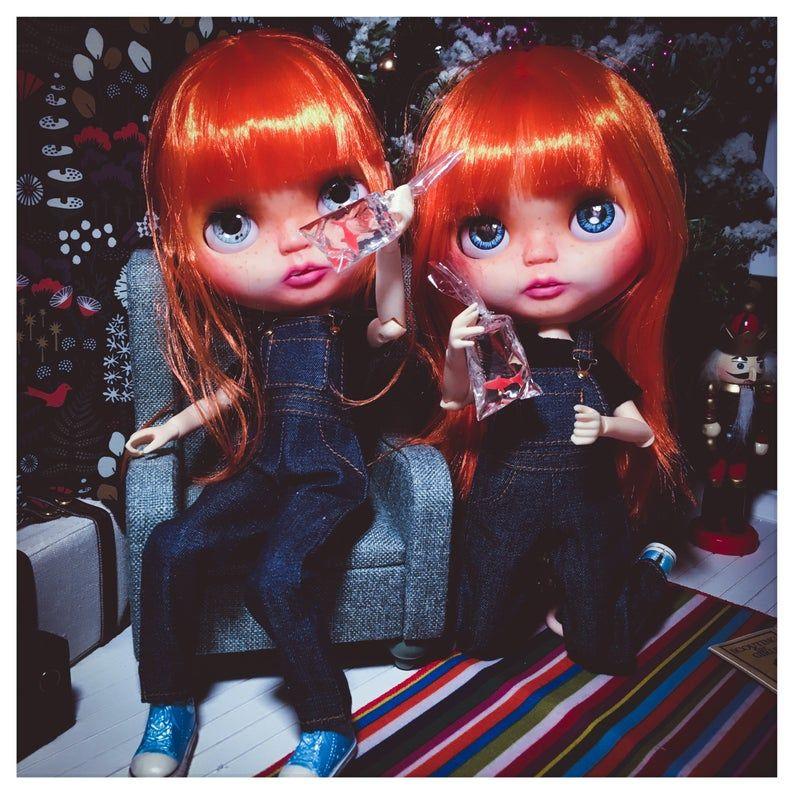 Sold Custom Blythe Doll Ooak Twins Etsy Blythe Dolls Dolls Ooak