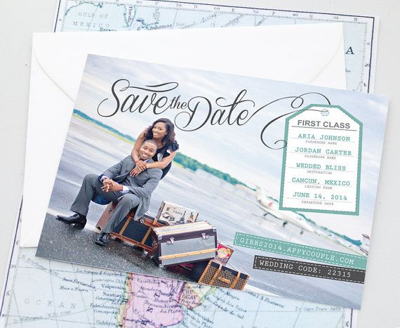 Design Fee  Luggage Tag Destination Wedding Custom Travel Themed
