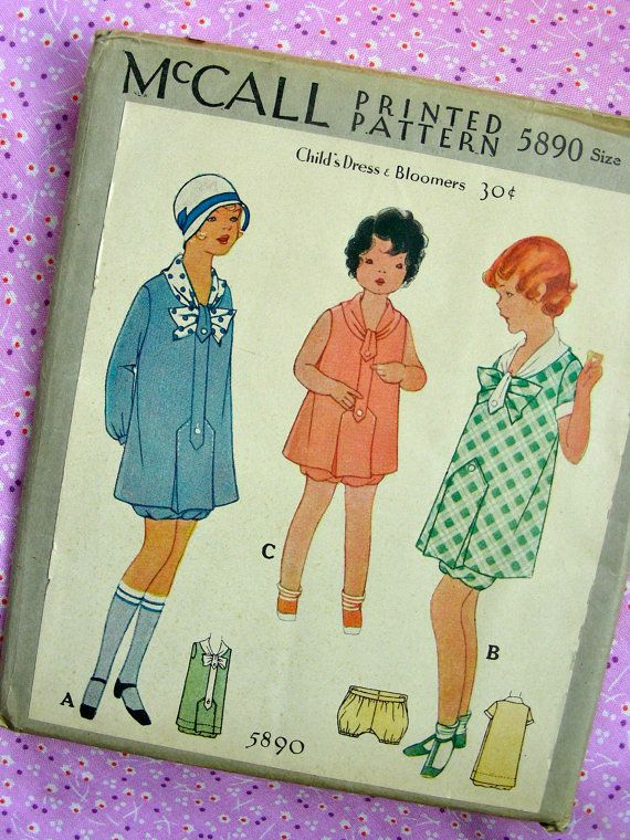 UNCUT Vintage 1920\'s McCALL Pattern 5890 // PRECIOUS by anne8865 ...