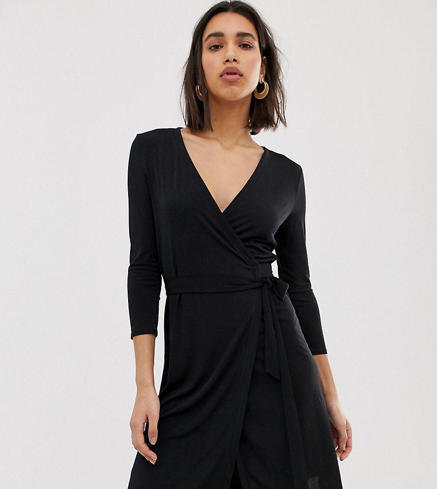 Mango V Neck Wrap Dress Black Fashion Wrap Dress Black Wrap Dress [ 972 x 870 Pixel ]