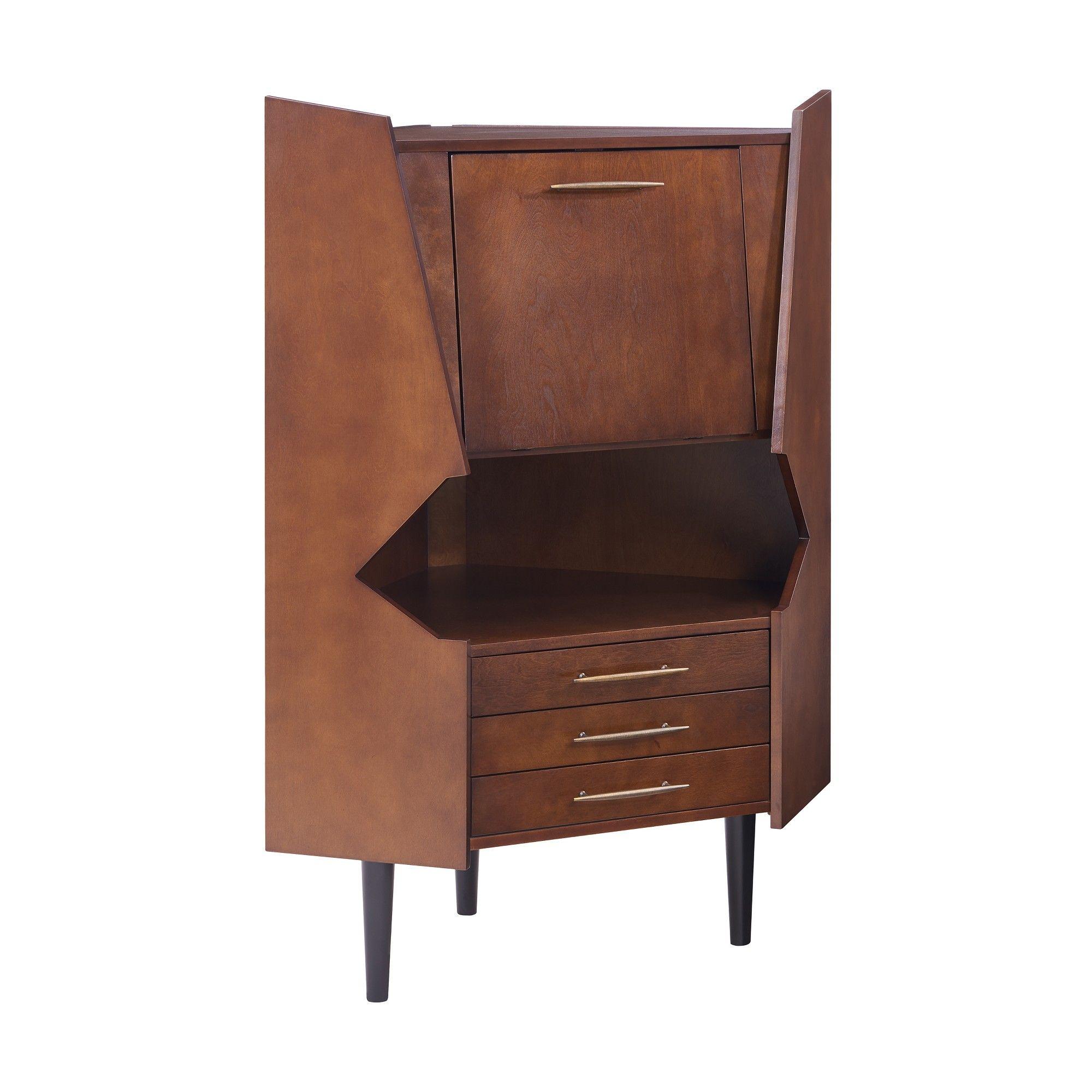 lars corner bar cabinet dark tobacco aiden lane products rh pinterest com